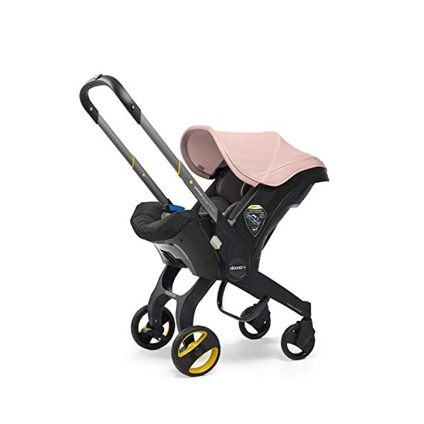 Doona Car Seat and Pram, Blush Pink, Revolutionary 0+ Car Seat that Folds Between Car Seat & Pram in Seconds, ISOFIX Base Available. Car Seat H60cm x W44cm, Pram H99cm x 82cm. Perfect for Travelling Doona  4
