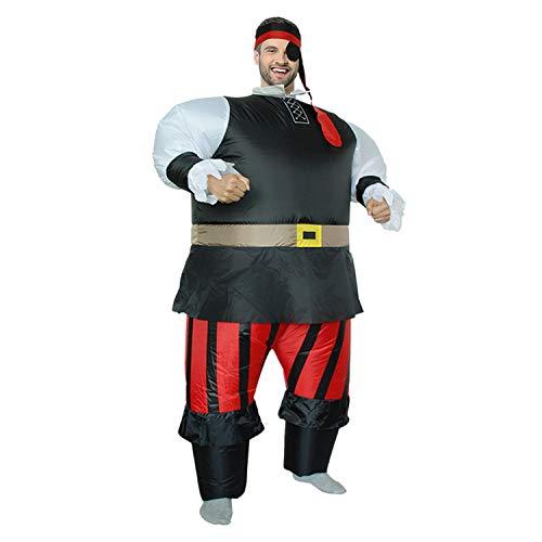 LOVEPET Einäugige Pirate Aufblasbare Kostüm Erwachsene Cosplay Karneval -