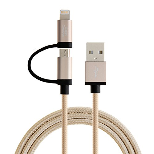 952fca260de Lightning USB Kabel, [Apple MFi zertifiziert] CableCreation 2 in 1 Lightning  zu USB