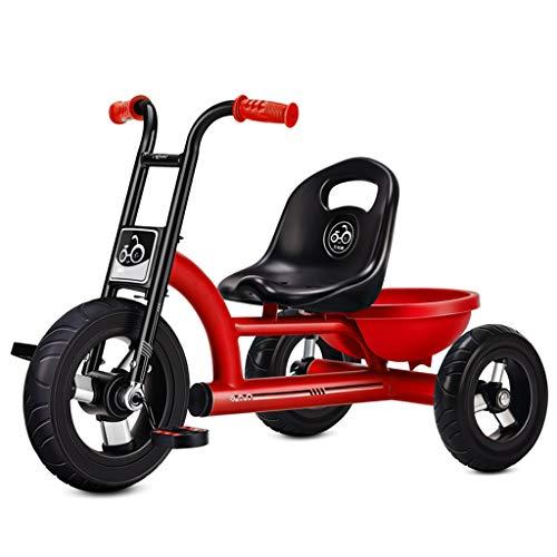 C-Xka Passeggino giocattolo Triciclo con Enlarged cestino di immagazzinaggio, biciclette for bambini giocattolo Kindergarten Adatto for 1-3-6 Year Old Boy and Girl biciclette, accresciuta schienale di