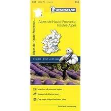 Alpes-de-Haute-Provence, Hautes-Alpes - Michelin Local Map 334 (Mapas Local Michelin)