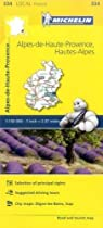 Alpes-de-Haute-Provence, Hautes-Alpes - Michelin Local Map 334