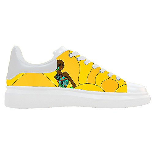 Dalliy Zapatos De Lona Mujer Africana Scarpe Lace Up High Top Zapatillas A Vela Panno Scarpe Scarpe Di Tela Sneakers D