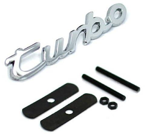 E847 Turbo Emblème de calandre 3D autocollant de voiture badge calandre argent