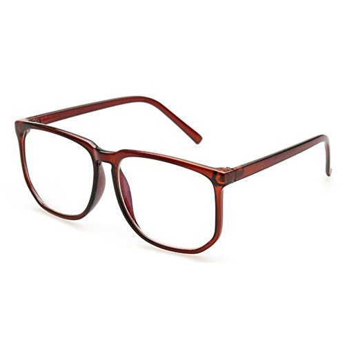 Huicai Runde Unisex Brille Übergroße Nerd Klare Linse Brille UV Schutz Anti Blaues Licht Platz