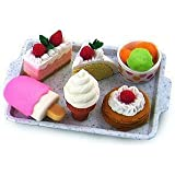 IWAKO Japanese Eraser Dessert Set - Colors Vary Toy/Game/Play Child/Kid/Children