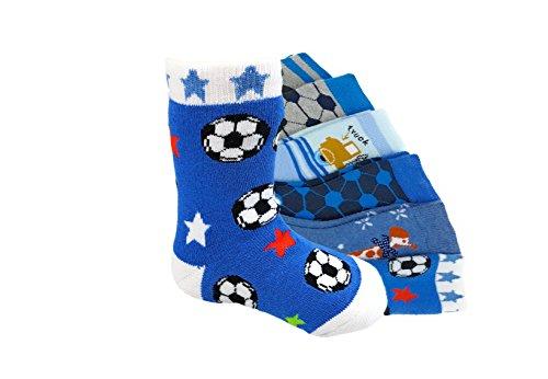 6 Paar original STOP ON! Kids Jungen Stoppersocken Kinder Socken ABS Strümpfe Baby Söckchen mit Anti Rutsch Sohle 85{ad60e79e046dfebe9cf2cb7bcd4e5e431bba0cca36eb619617e5a1c7481becca} Baumwolle (23-26, J-WS-23)