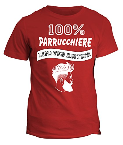 Tshirt 100% parrucchiere Limited Edition - in cotone Rosso