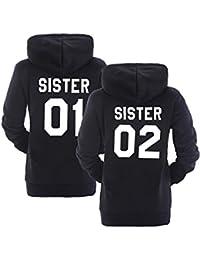 Sudaderas con Capucha Mejores Amigos para Mujeres Par Suéter Impresión Sister 01 02 Manga ...