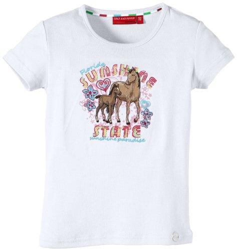 Salt & Pepper Mädchen T-Shirt 43112285, Gr. 104, Weiß (white)