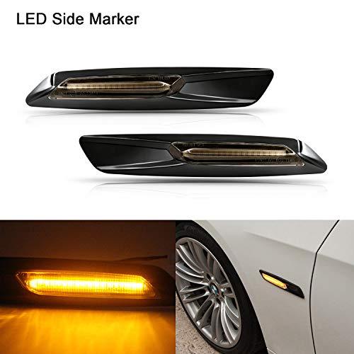Indicatore laterale a LED Gempro 2 X LED indicatore laterale 18 SMD ambra con bus CAN-OBC senza errori OE Presa Per fumo Per E81 E87 E88 E90 E91 E60 E61