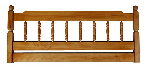 Amani International Colonial Spindle Headboard, Pine, Honey, 5 ft, King