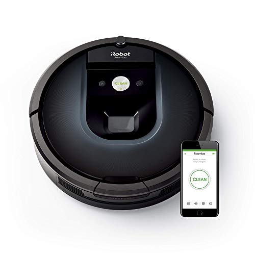 iRobot Roomba 981 Robot aspirapolvere WiFi, Power-Lifting, due spazzole in gomma multi-superficie, Adatto per chi ha animali domestici, Tecnologia Dirt Detect, pulizia a 3 fasi, programmabile con app