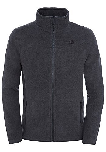 The North Face Herren Fleecejacke M 100 Glacier, grau-tnfdarkgreyhthr, 52 (Herstellergröße: X-Large) - Herren 100% Polyester-fleece