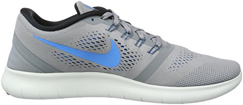 Nike Free Run, Chaussures de Running Compétition Homme Gris (Stealth/Blue Glow/Black/Cool Grey)
