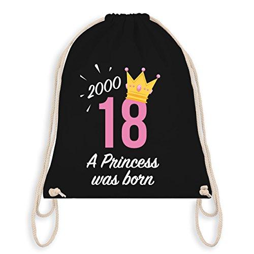 rtstag Mädchen Princess - Unisize - Schwarz - WM110 - Turnbeutel I Gym Bag (Mädchen Geburtstag-ideen)