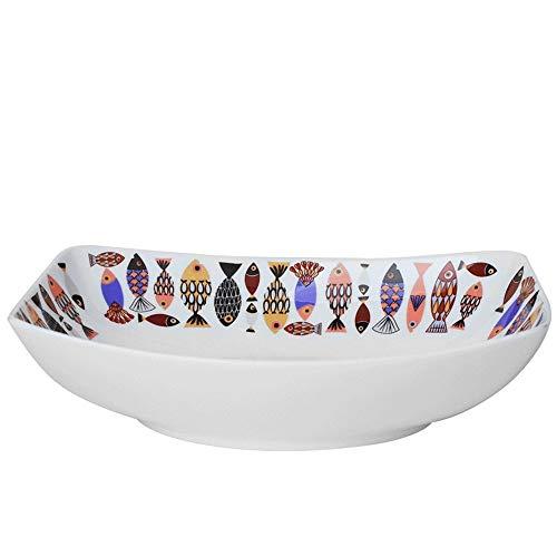 Happiness Tableware LIXUE Keramik Rechteck Gebackenem Reis Käse Ravioli Obstsalat Suppe Pasta Ramen Schüssel Ofen Mikrowelle Sicher Kreative Handgemalte Mischen Servierschalen