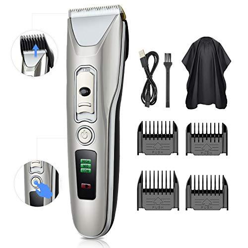 Haarschneider elektrische Haarschneidemaschine Profi Haartrimmer Herren Haar und Bartschneider Präzisionshaartrimmer mit 4 Aufsatzkämmen für Salon oder zu Hause