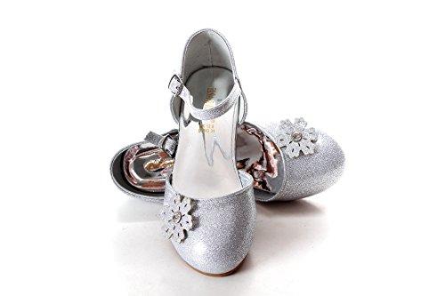 Cinderella Kostüm Schuhe (UK1stChoice-Zone ELSA & ANNA® Gute Qualität Neueste Design Mädchen Schuhe Prinzessin Schnee Königin Gelee Partei Schuhe Sandalen (EURO 29 - Insole Length 19.4cm,)