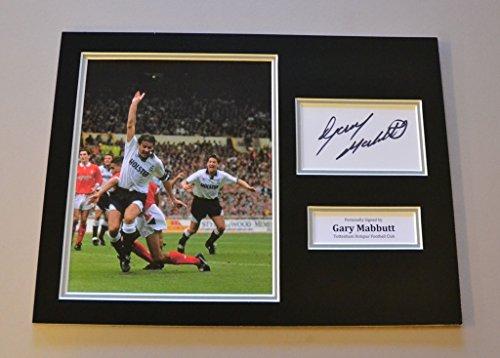 Gary-Mabbutt-Signed-16×12-Tottenham-Hotspur-Photo-Autograph-Memorabilia-Display