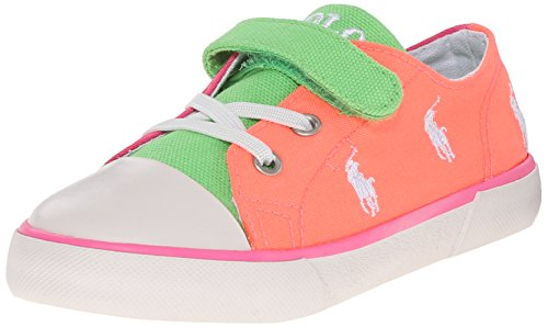 Polo Ralph Lauren Kody, Baskets Basses mixte enfant Multicolore - Mehrfarbig (summer melon/pink/green)