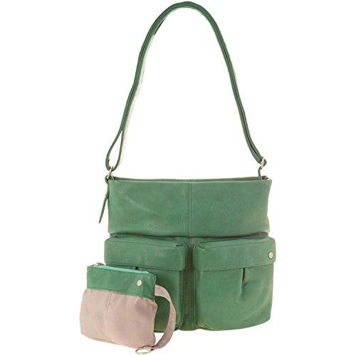 Zwei, Borsa a tracolla donna Pine Verde (Green - Green (Grün))
