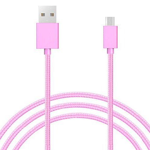Micro USB Kabel Nylon Geflochtenes Schnellladekabel - ROSA für Timmy M20 5.5 Inch Smartphone