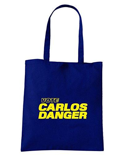 T-Shirtshock - Borsa Shopping FUN0191 07 29 2013 Vote Carlos Danger T SHIRT det Blu Navy