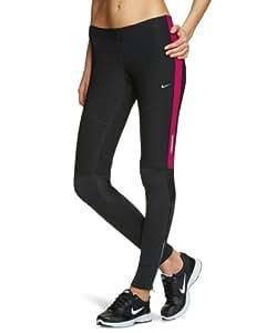 nike tight tech women 39 s sports leggings black rave pink. Black Bedroom Furniture Sets. Home Design Ideas