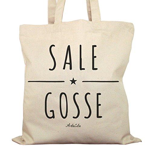 Tote Bag Imprimé Ecru - Toile en coton bio - Sale Gosse