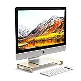 Satechi Universal-Unibody-Monitor-Erhöhung aus Aluminium kompatibel mit 2017 MacBook Pro, iMac Pro, Google Chromebook, Microsoft Surface, 2018 Mac Mini und andere (Gold)