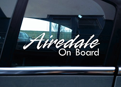 Airedale Terrier on board'Auto-Aufkleber, vinyl