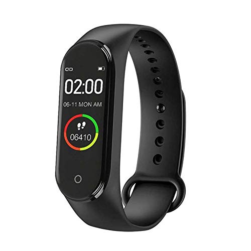 Upreale M4 Bluetooth Smartwatch Waterproof Fitness Band and Activity Tracker for Men Compatible with Android and All iOS Devices (Black, Pack of 1)