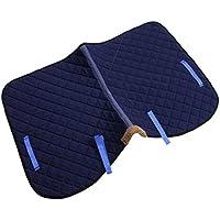 perfk 1 Psc Esponta Almohadilla Silla Alforja Saddlebag Suave Transpirable para Caballo Multiusos - Azul