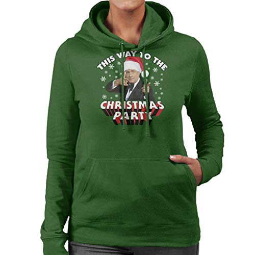 (Coto7 Tom Hanks This Way to The Christmas Party Women's Hooded Sweatshirt)