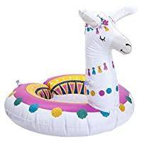 "FiNeWaY 36"" Inflatable Giant Llama Alpaca Shaped Pool Float Ring Raft Swimming Water Lilo Lounger Fun"