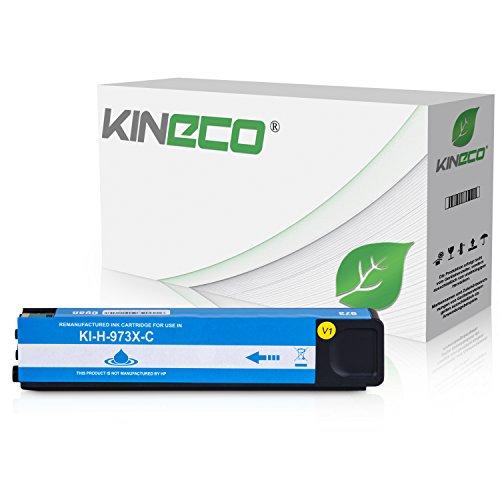 Kineco Tintenpatrone kompatibel zu HP 973X für PageWide Pro 452dn 452dw 452dwt 477dn 477dw 477dwt 552dw 577dw 577z - Cyan -
