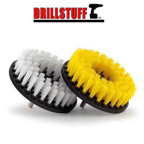 Drillstuff 2 Stück, Soft & Medium Drill Pinsel 5 x 5 x 5 inches gelb weiss