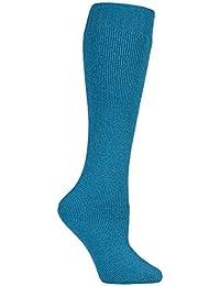 David James - Chaussettes montantes -  Femme Bleu Bleu-vert