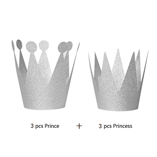 e Prinzessin Geburtstag Hüte für Frauen Kinder Geburtstags Party (Silber) ()