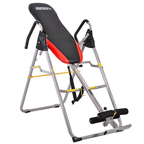 OneTwoFit | Inversionsbank | Schwerkrafttrainer Therapie-Stretchgerät in professioneller Schwerlast-Qualität mit 3 verschiedenen Höheneinstellungen zur Linderung von Rückenschmerzen Rückenbank | OT079