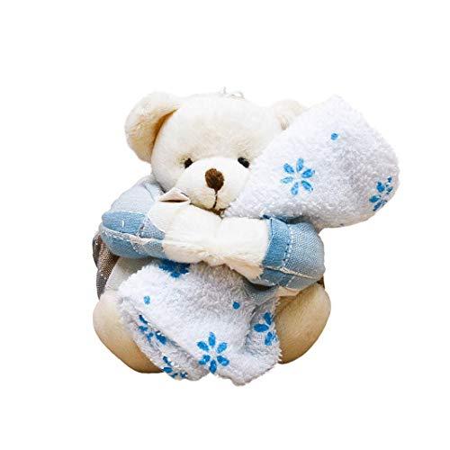 Star import bomboniera portaconfetti orsetto peluche celeste, 1 pezzo, h12 cm