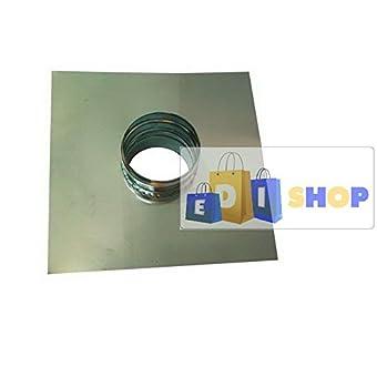 CHEMINEE PAROI SIMPLE TUYAU TUBE INOXIDABLE AISI 316 - dn 80 piastra + tronc passante