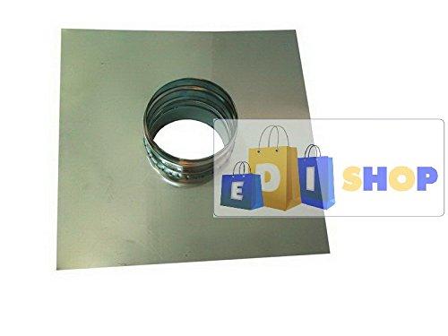 CHEMINEE PAROI SIMPLE TUYAU TUBE INOXIDABLE AISI 316 - dn 140 piastra + tronc passante