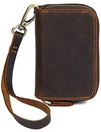 WENDYRAY Mini Billetera de Cuero con Soporte para Tarjeta de crédito con Compartimiento para Llaves Bolsillo