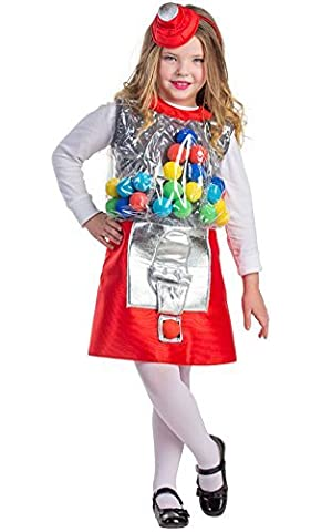 Gumball Machine Costume - Size Toddler 4 by Dress Up America