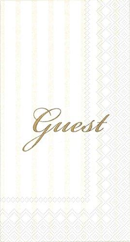 Ideal Home Serie 16Count 3-lagig Gäste Papier Handtuch, Servietten, Gold (Gast Handtücher Papier)
