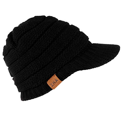 JMETRIC Damen Beanie|Schirmmütze |Strickmütze|Wintermütze|Gestrickt Verdicken Wintermütze Mode Wärme