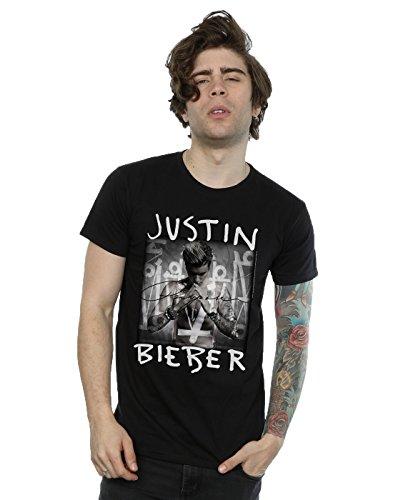 Justin Bieber Herren Purpose Album Cover T-Shirt Medium Schwarz (Tee Album-cover)