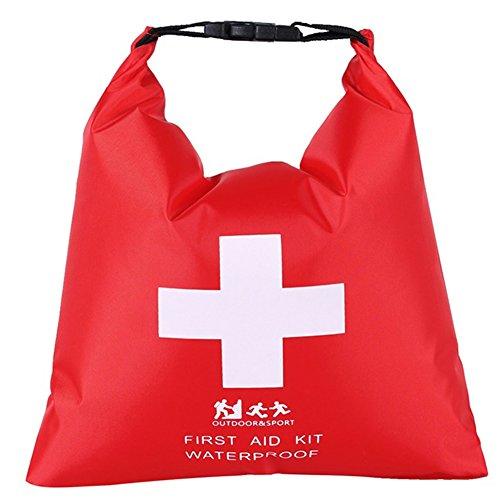 Devoto 1.2L Erste-Hilfe-Tasche für Outdoor-River, Trekking, Rafting, Camping, Reisen, Abenteuer, Lieferungen Aufbewahrungstasche Tragbare Gummi-Leichte wasserdichte Packsack (Solotasche) -